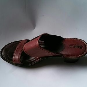 Born Sandals Leather Brown sz 8